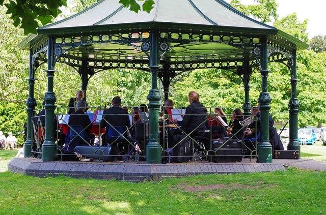 Concert in Sanders Park, Bromsgrove, Worcs