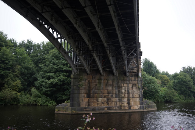 Rail bridge over the River Calder