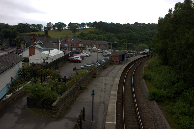 Grosmont station.  The line to Middlesbrough