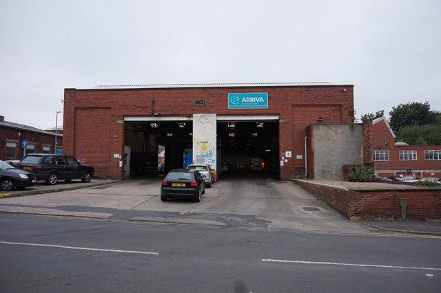 Arriva bus garage, Heckmondwike