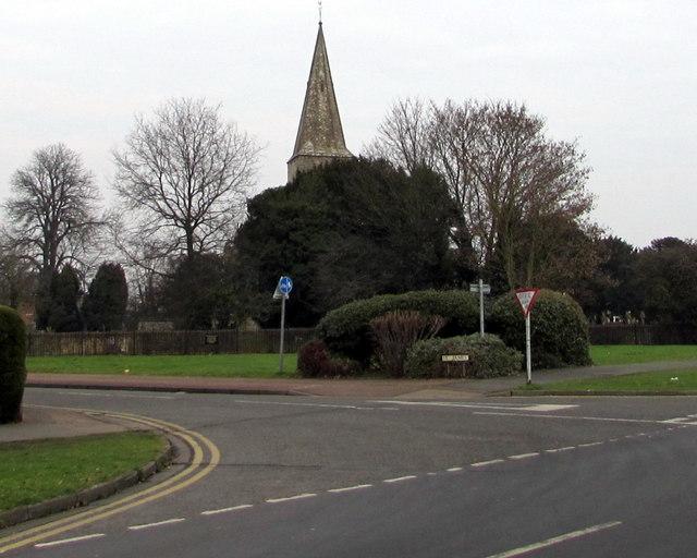 Junction of School Lane and St James, Quedgeley