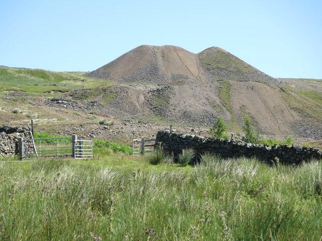 Lead mine spoil heaps above Marl Beck