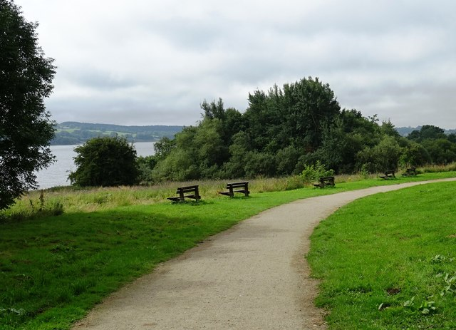 Circular path around Carsington Water