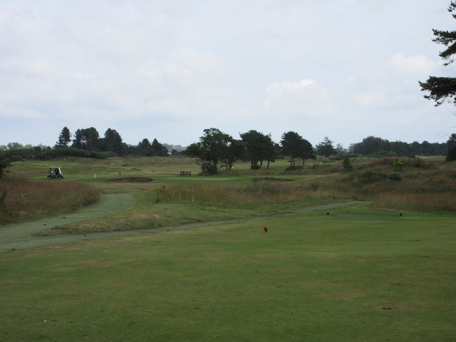 Monifieth Ashludie 9th hole, The Marches