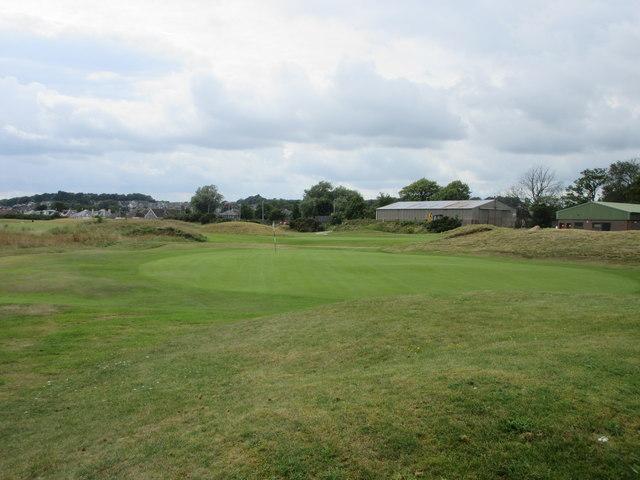 Monifieth Ashludie 17th hole, East Camp