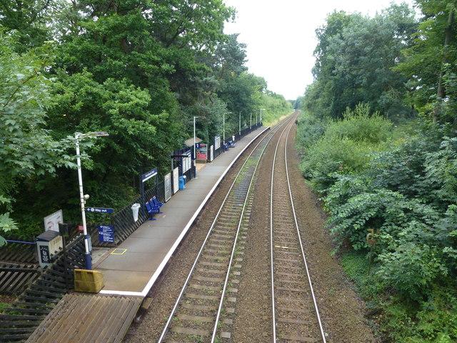 Hornbeam Park Station looking south
