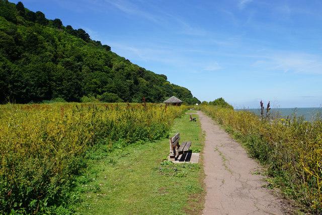 The South West Coast Path leaving Minehead