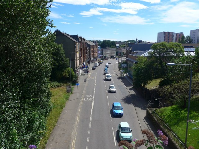 Maryhill Road from the Forth & Clyde Canal aqueduct