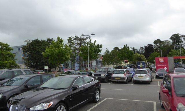 Tesco car park, Shepton Mallet