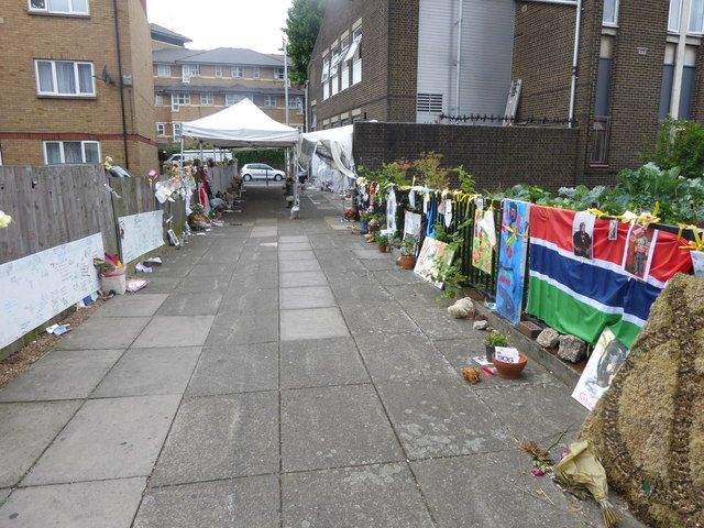 The walls of messages and tributes after the Grenfell Tower fire
