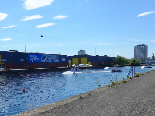 Water skiing at Port Dundas, Glasgow