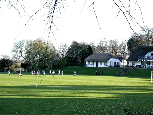 Pavilion and tuck shop, Lancing College playing fields