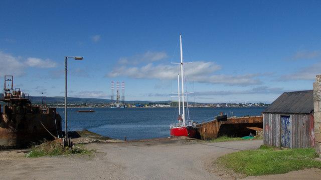 Boatyard at Inverbreakie Pier