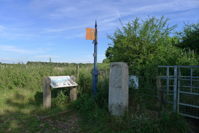 Memorial and information board on Hanging Hill