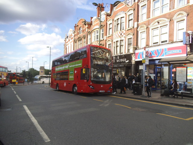 13 bus on Finchley Road, Golders Green