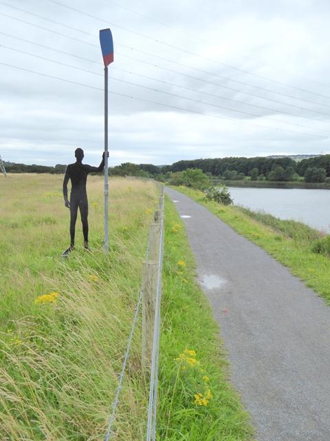 Silent oarsman beside the Keelman's Way