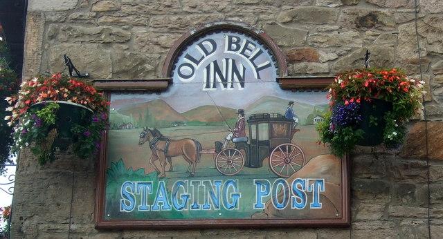 Sign for the Old Bell Inn