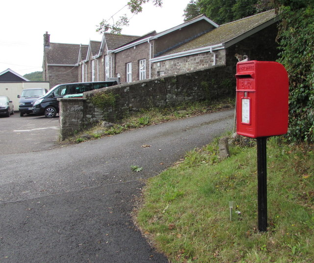 Queen Elizabeth II postbox, School Lane, Govilon
