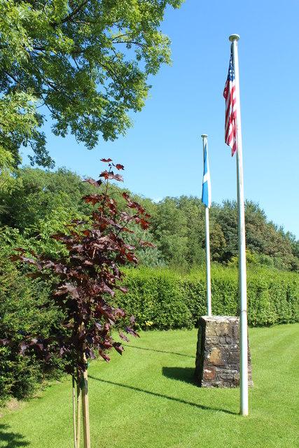 Flags at the John Paul Jones' Birthplace