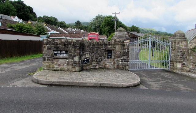 Entrance to the Old Railway Station, Govilon