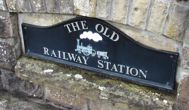 The Old Railway Station name sign, Govilon