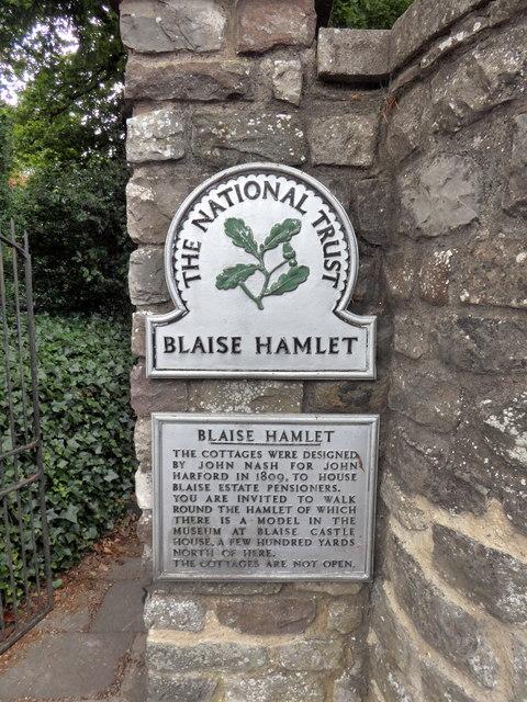 National Trust Sign 'Blaise Hamlet'