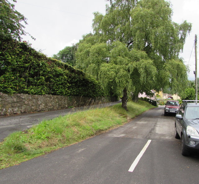 Junction of School Lane and Cwm Road, Govilon