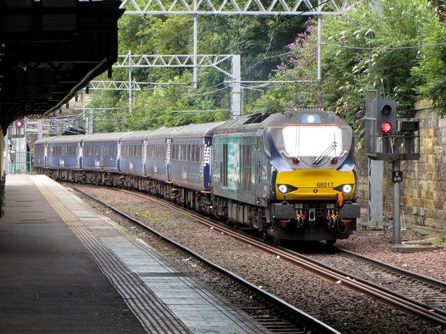 Commuter train at Edinburgh Waverley