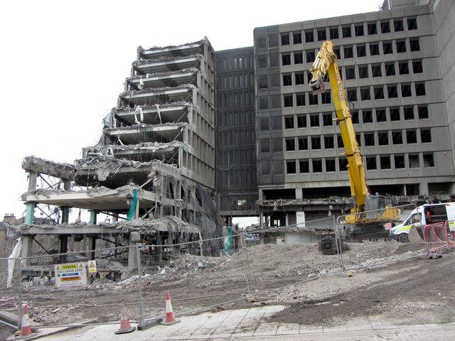 Demolition underway in Edinburgh