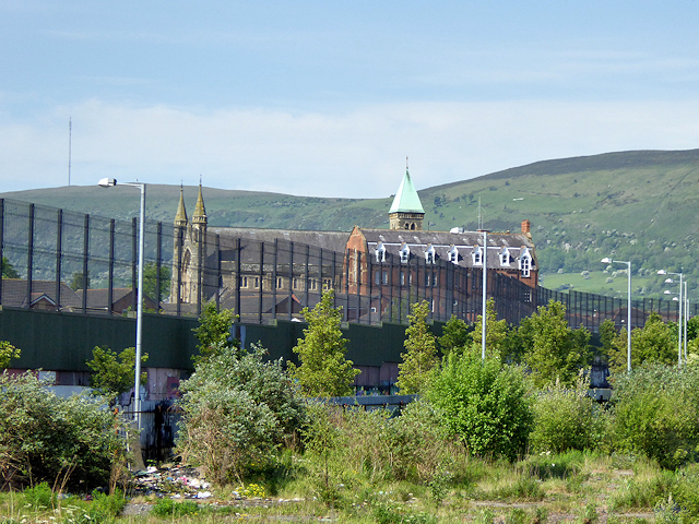 West Belfast, Peace Wall and Clonard Monasery