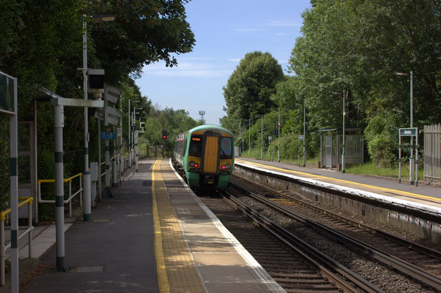 Merstham station looking south