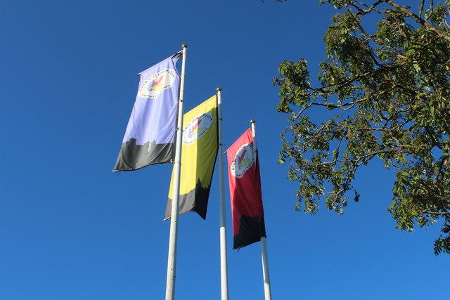Flags at Kirkcudbright