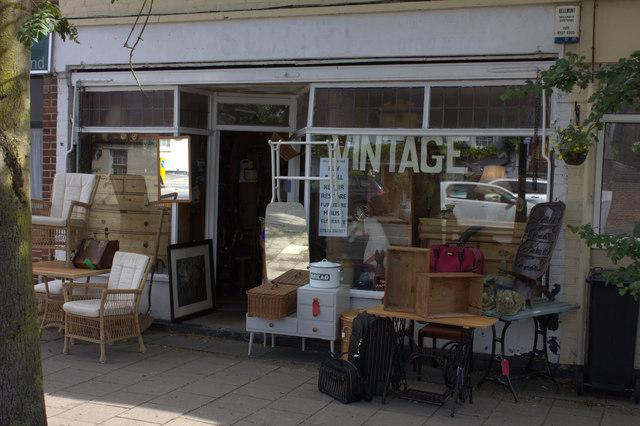 Vintage shop, Merstham