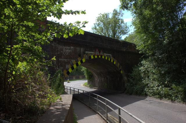 Merstham. Bridge over School Hill