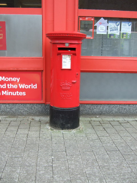 Elizabethan postbox, Penicuik Post Office