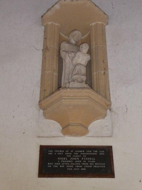 St Andrew, Backwell: memorial (1)