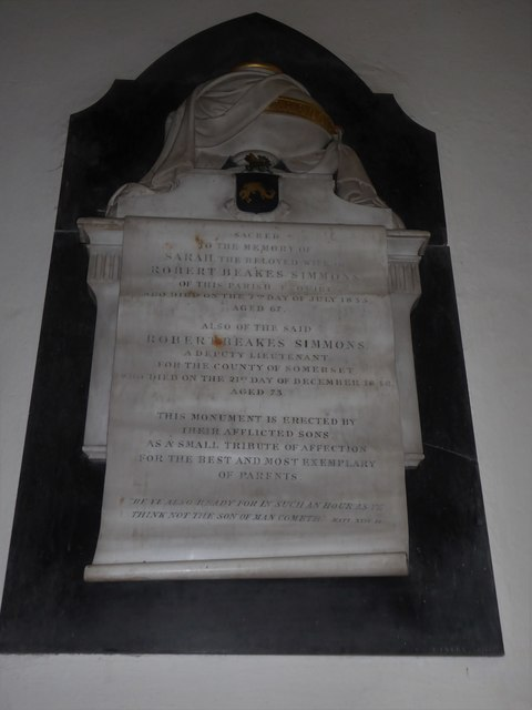 St Andrew, Backwell: memorial (3)