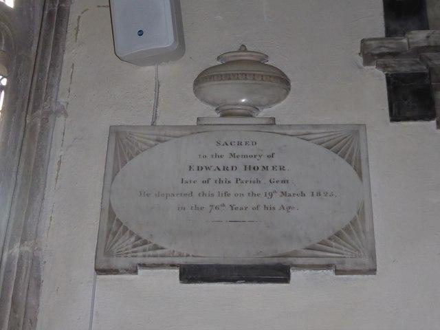 St Andrew, Backwell: memorial (7)