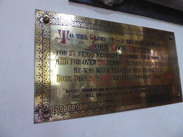 St Andrew, Backwell: memorial (10)