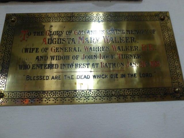 St Andrew, Backwell: memorial (11)