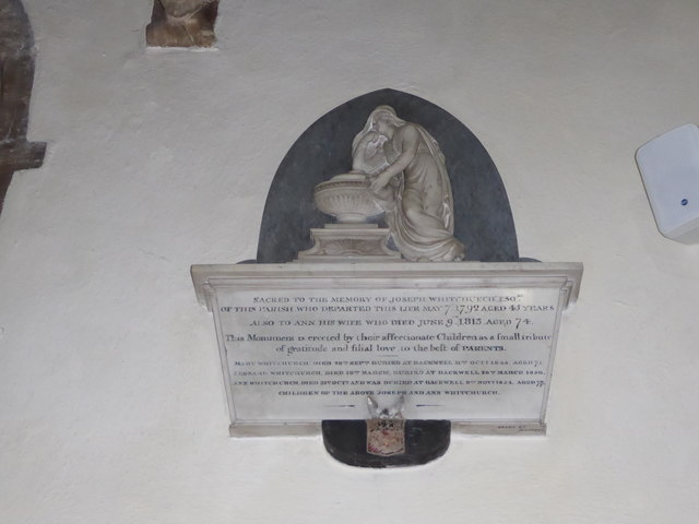 St Andrew, Backwell: memorial (13)