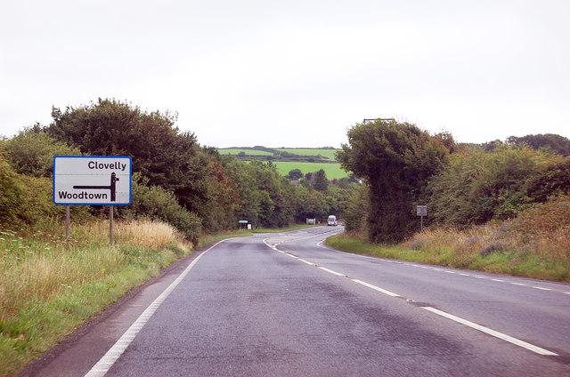 A39 approaching Fairy Cross