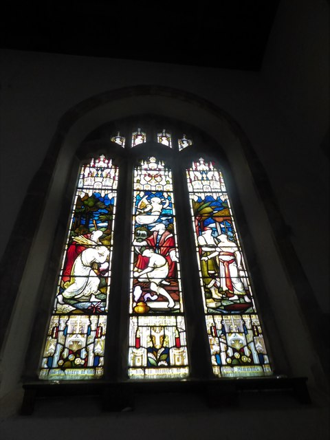 St Andrew, Backwell: stained glass window (V)