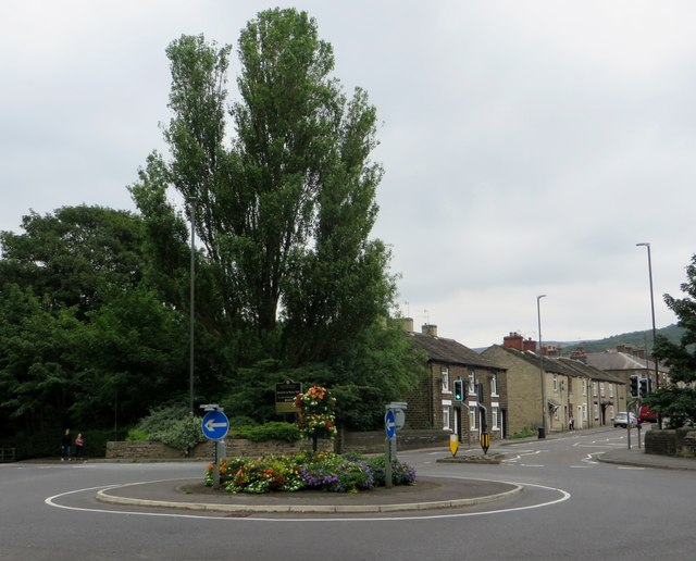 Roundabout on the A57, Glossop