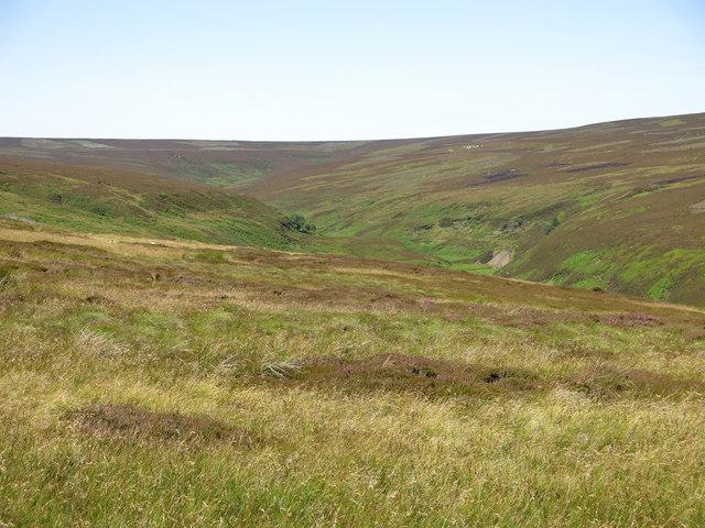 Moorland southwest of Great Eggleshope Beck