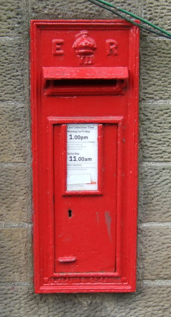 Edward VII postbox on Peebles Road, Walkerburn