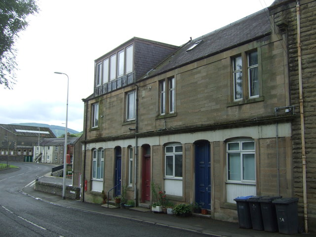 Houses on Peebles Road, Walkerburn