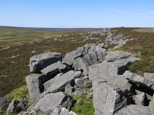Rock outcrop on Monk's Moor
