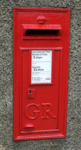 George V postbox on Pirn Road, Innerleithen