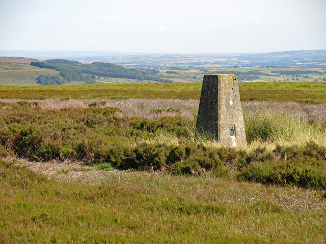 Trig point on Monk's Moor above Raven Hills